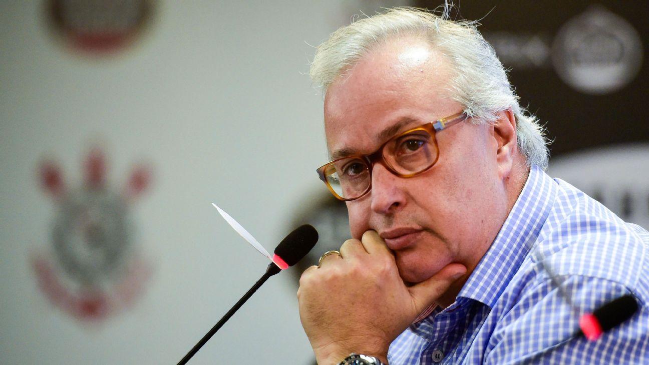 O presidente do Corinthians, Roberto de Andrade, está no cargo desde 2015