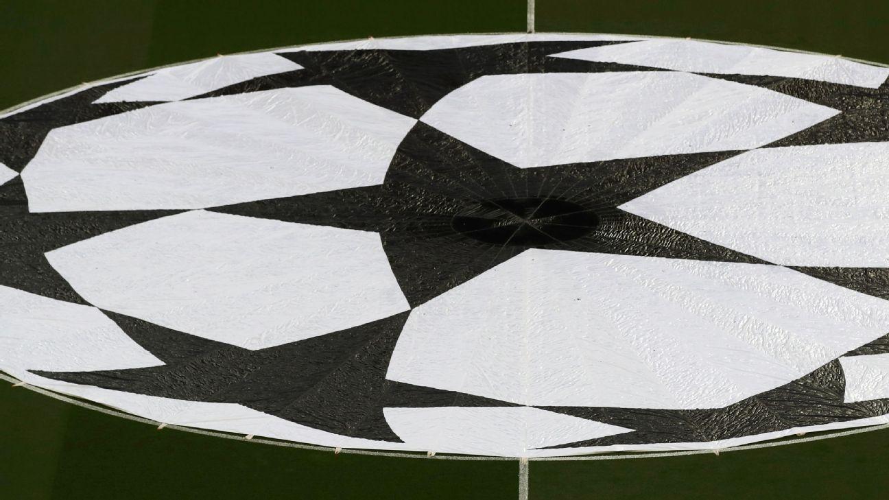Bandeira da bola da Liga dos Campeões da Europa