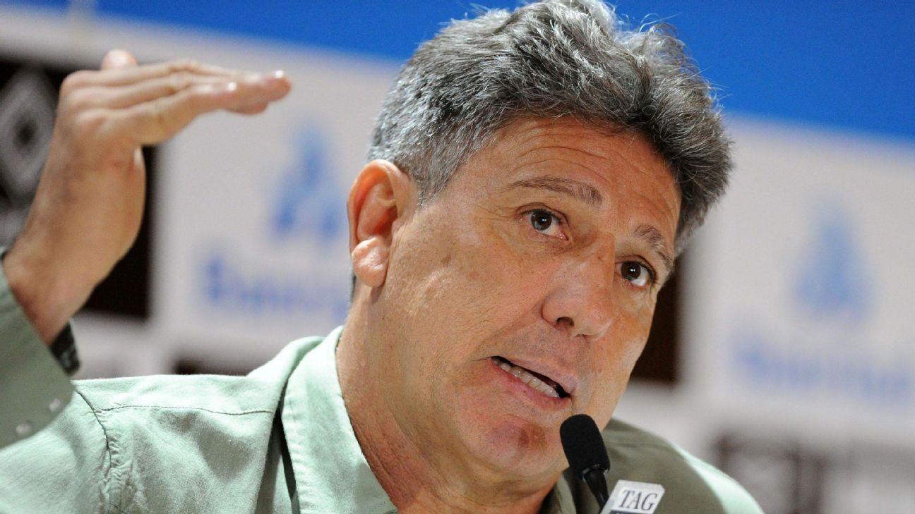Renato Gaúcho na entrevista coletiva