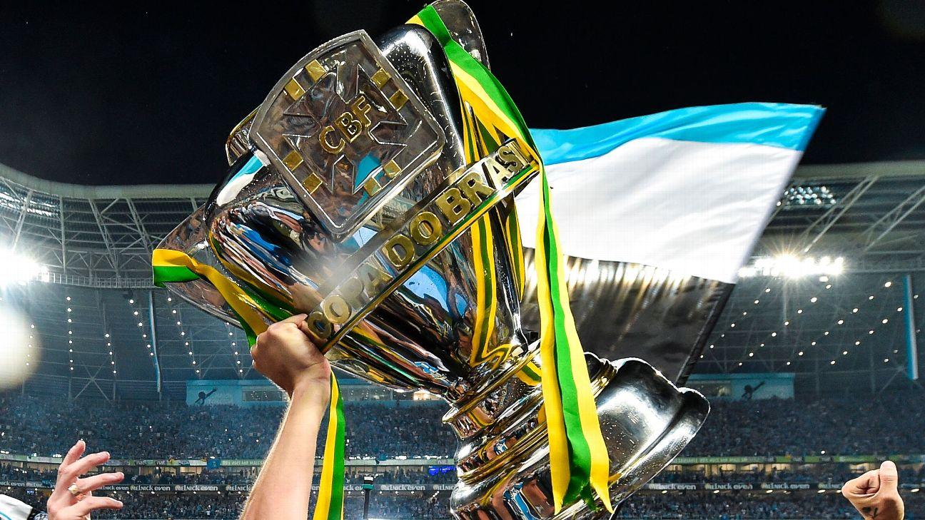 Jogadores do Grêmio comemoram a conquista da Copa do Brasil de 2016