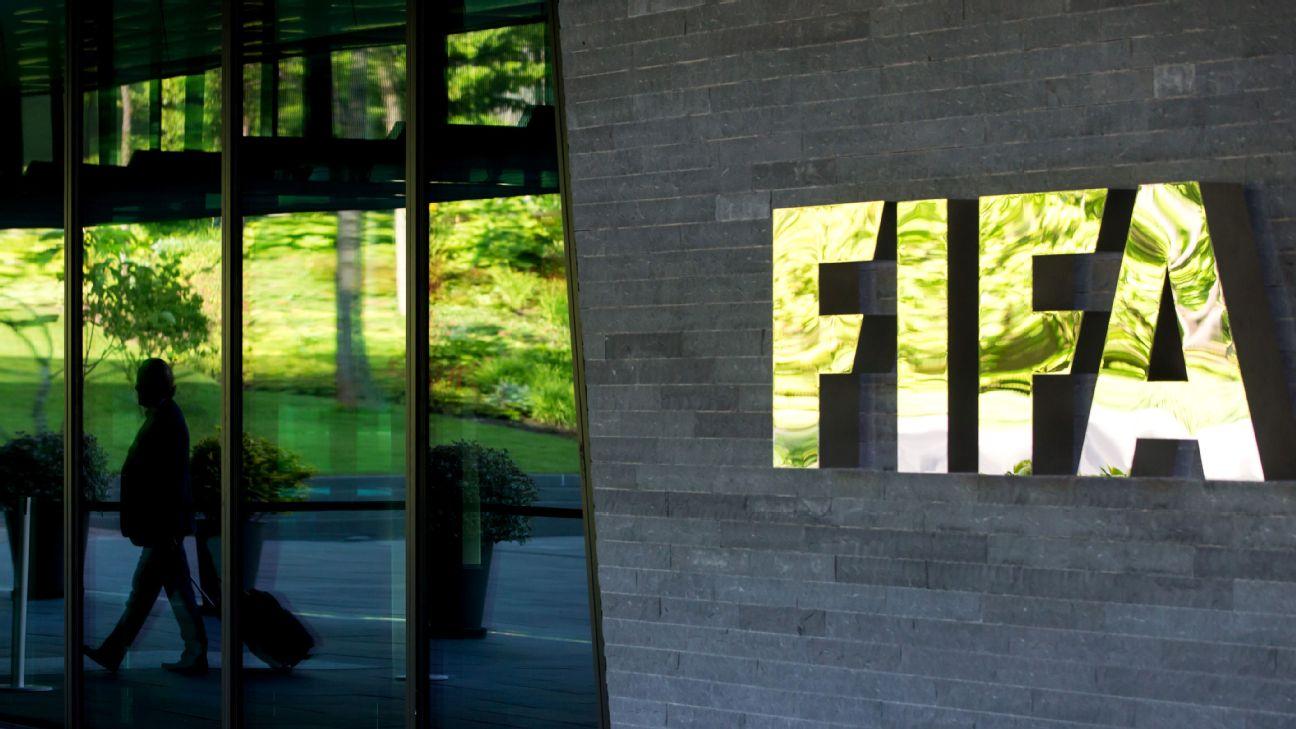 Entrada da sede da Fifa em Zurique, na Suíça