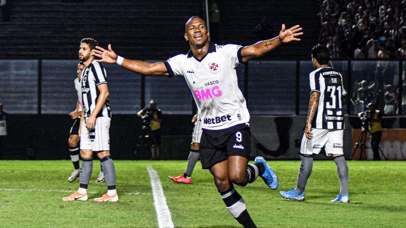 Ribamar comemora belo gol marcado contra o Botafogo