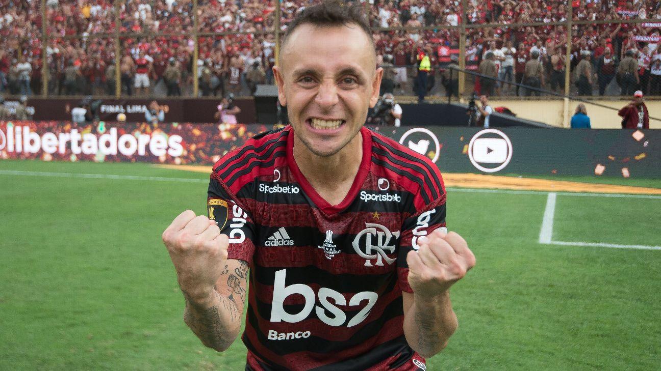 Rafinha comemora título do Flamengo