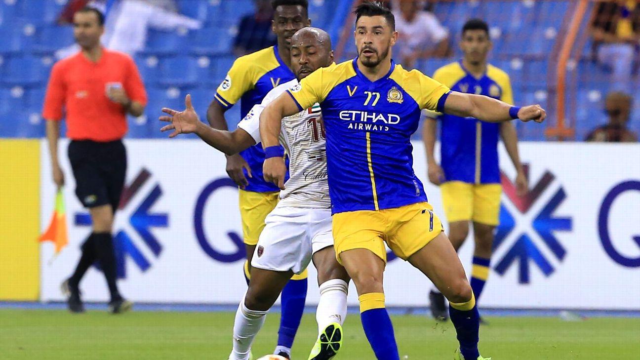 Giuliano durante jogo entre Al-Nassr e Al-Wahda, pela AFC Champions