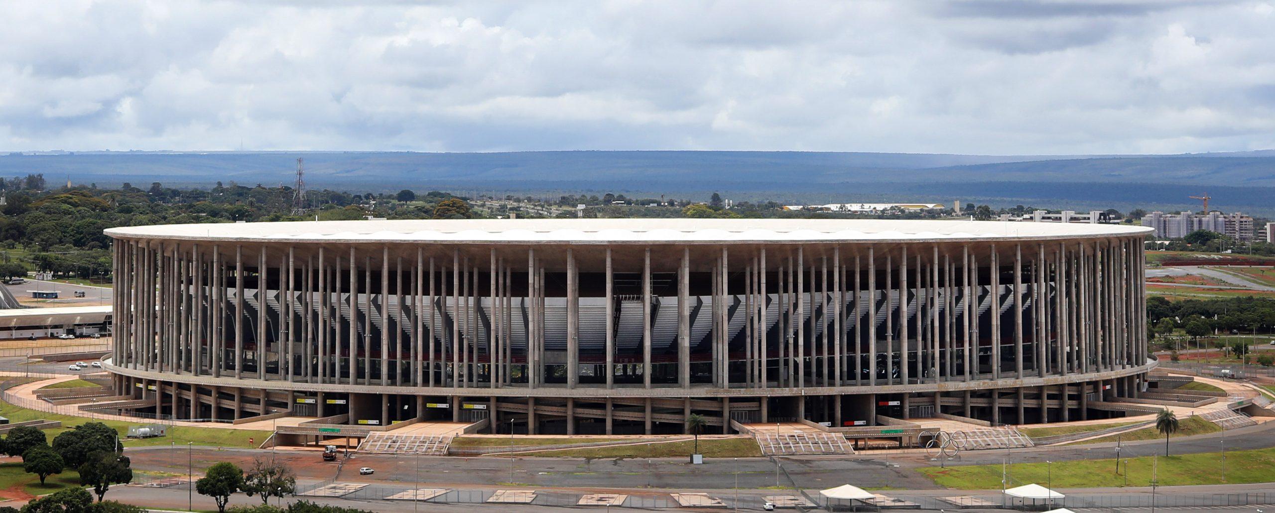 Vista do Mané Garrincha, estádio em Brasília