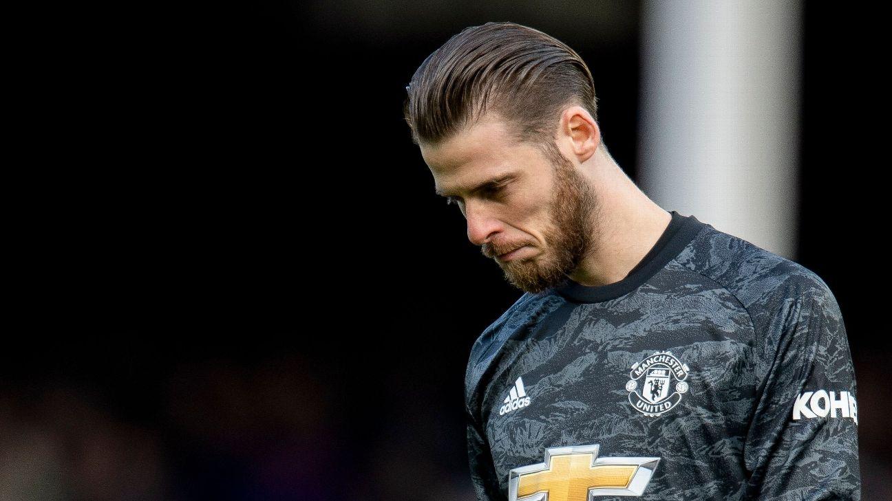 De Gea lamenta após falhar em gol durante Manchester United x Everton