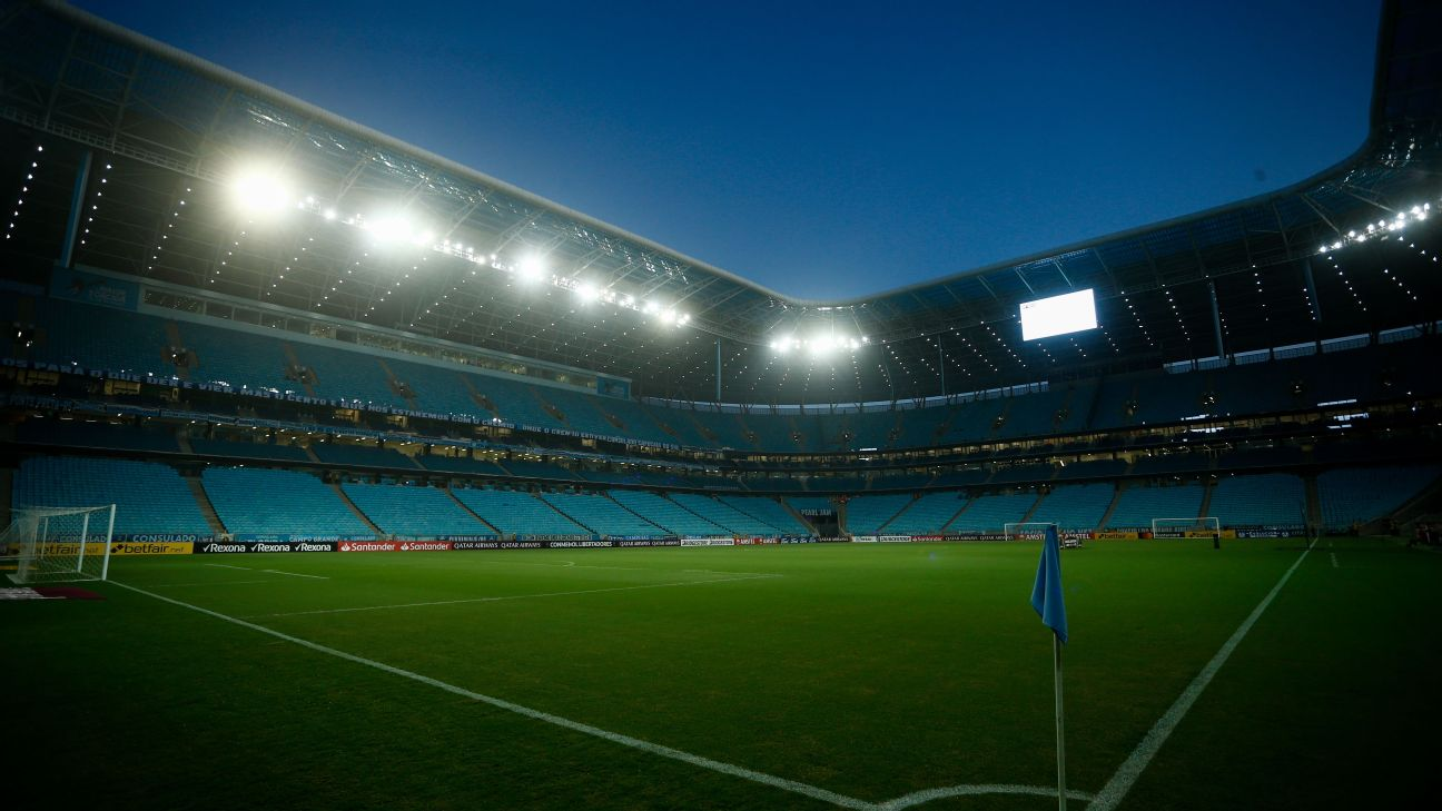 A Arena do Grêmio antes de Gre-Nal pela Libertadores 2020