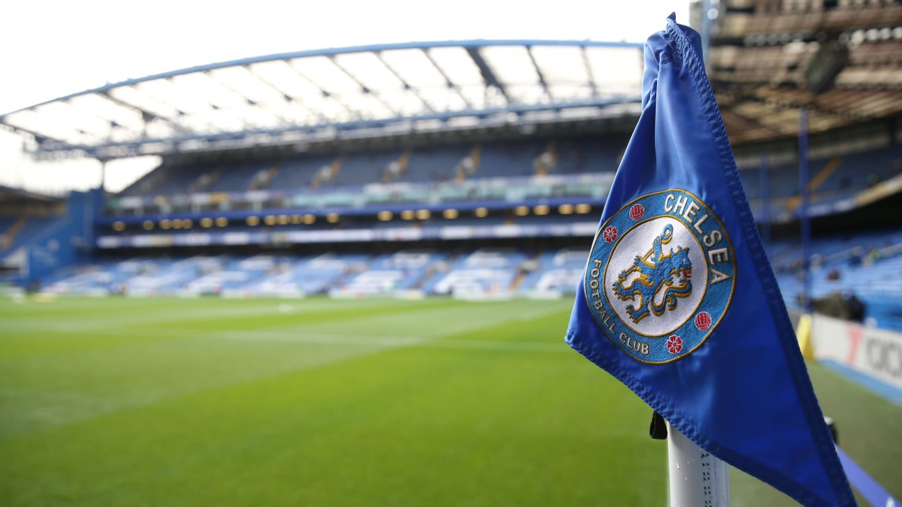 Bandeira do Chelsea no Stamford Bridge