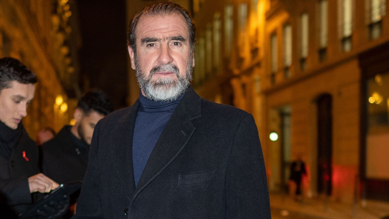 Eric Cantona durante evento em Paris, em 23 de janeiro de 2020