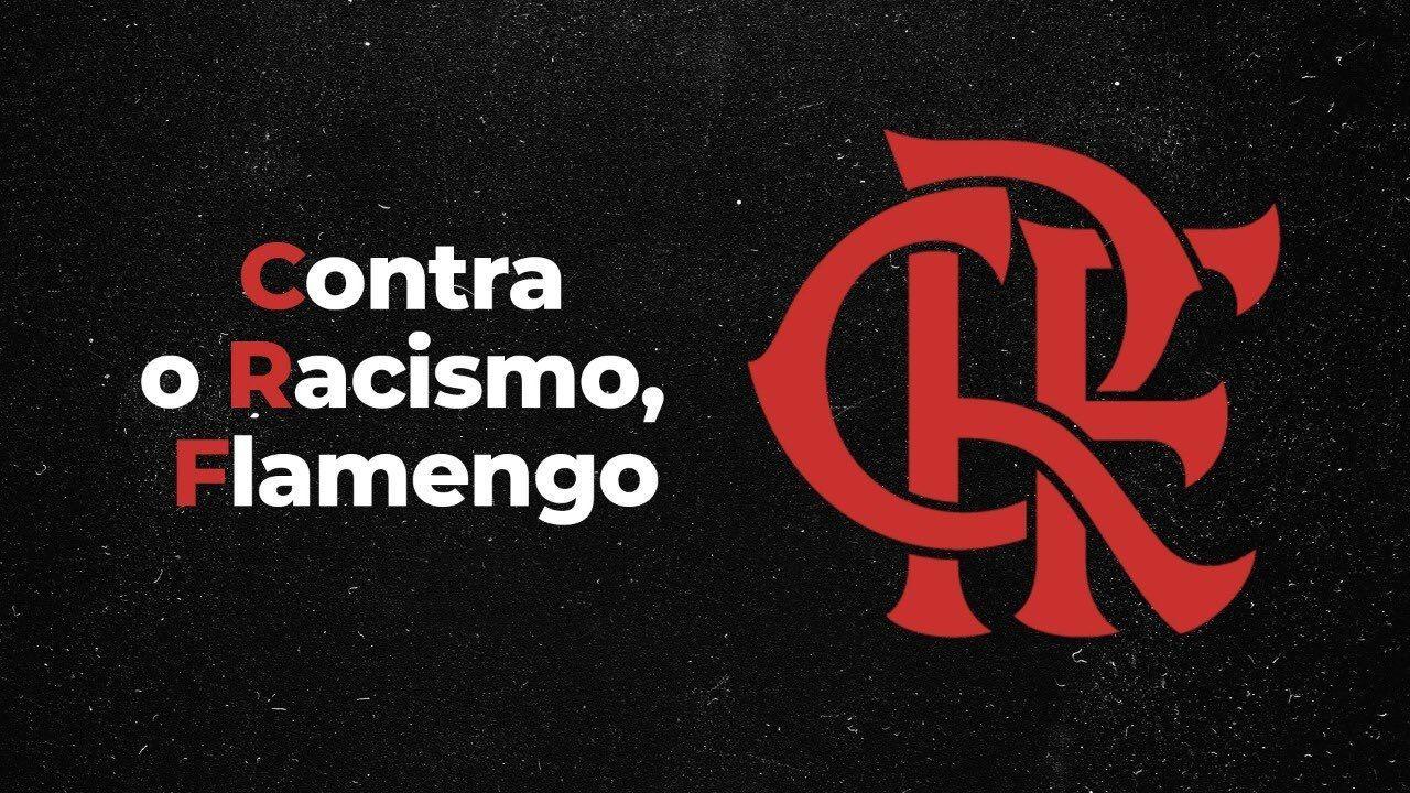 Flamengo protestou contra racismo em 1º de junho de 2020