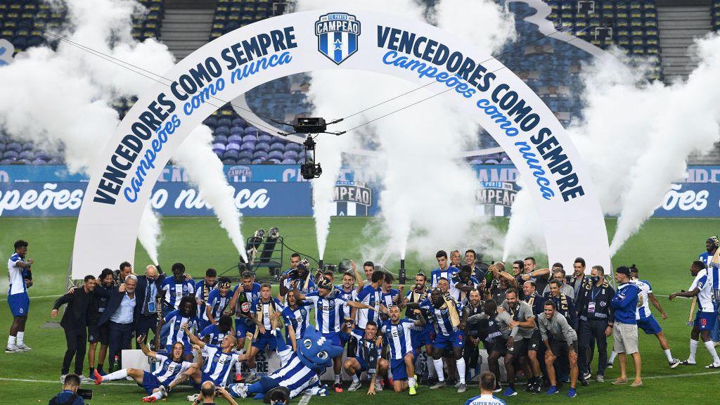 Porto celebra conquista do título português da temporada 2019-20