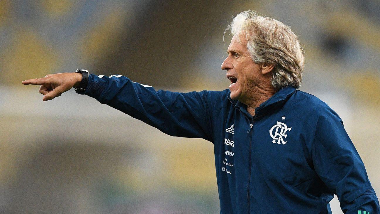 Jorge Jesus em seu último jogo pelo Flamengo, na final do Campeonato Carioca