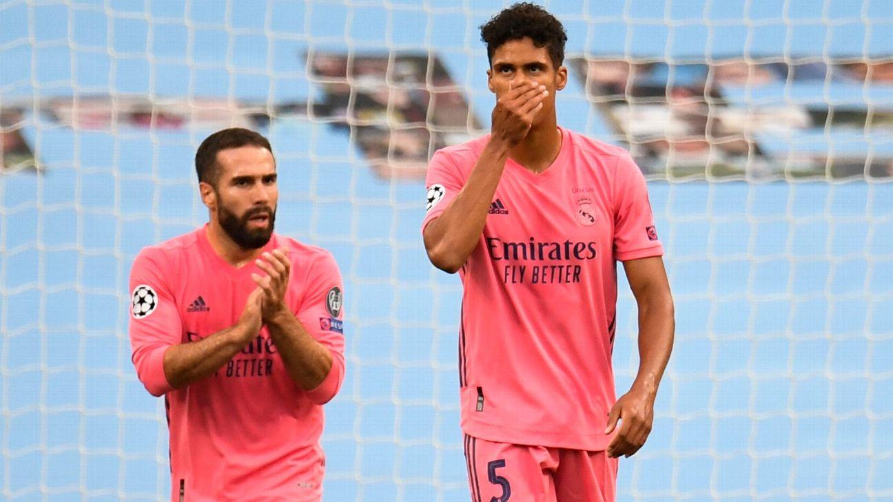 Varane lamenta após Real Madrid sofrer gol do Manchester City