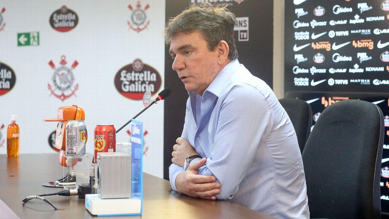 Andrés Sanchez durante entrevista coletiva