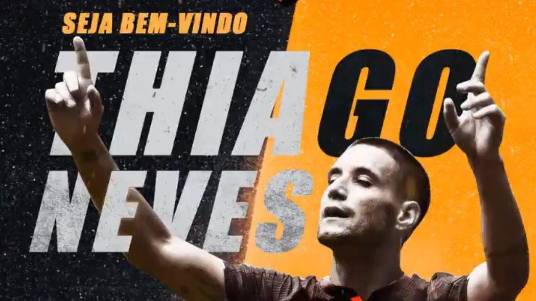 Sport anunciou contratação do meia Thiago Neves