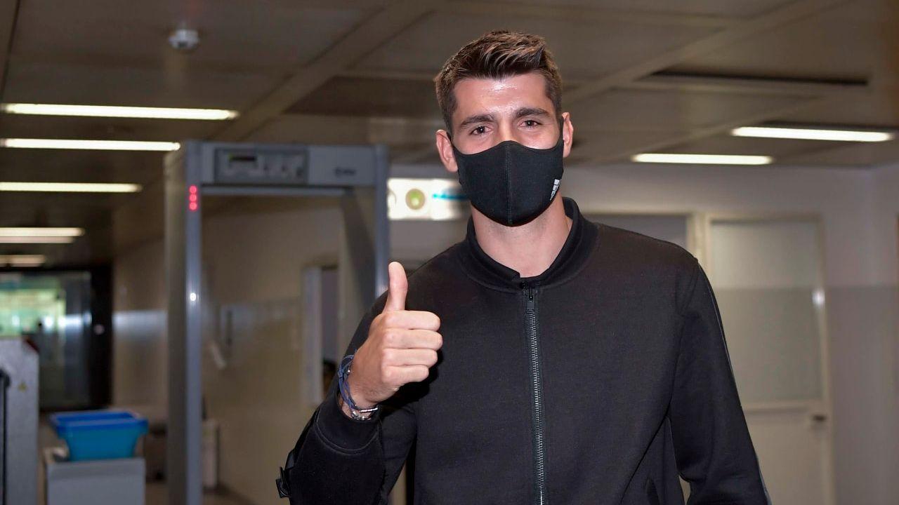 Álvaro Morata desembarca em Turim para assinar com a Juventus