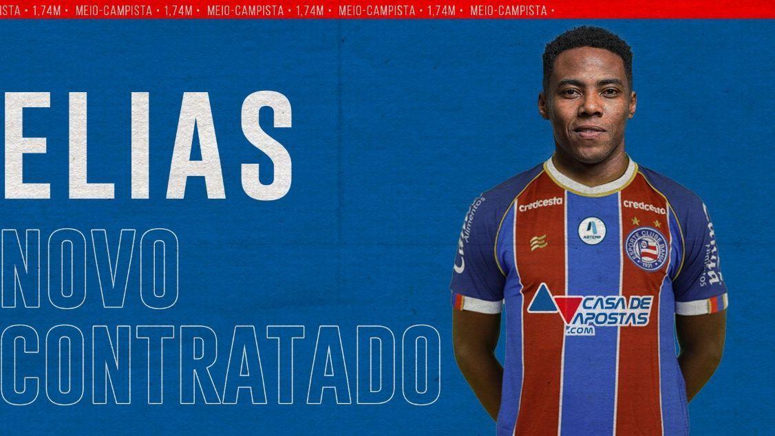 Elias foi anunciado como reforço do Bahia