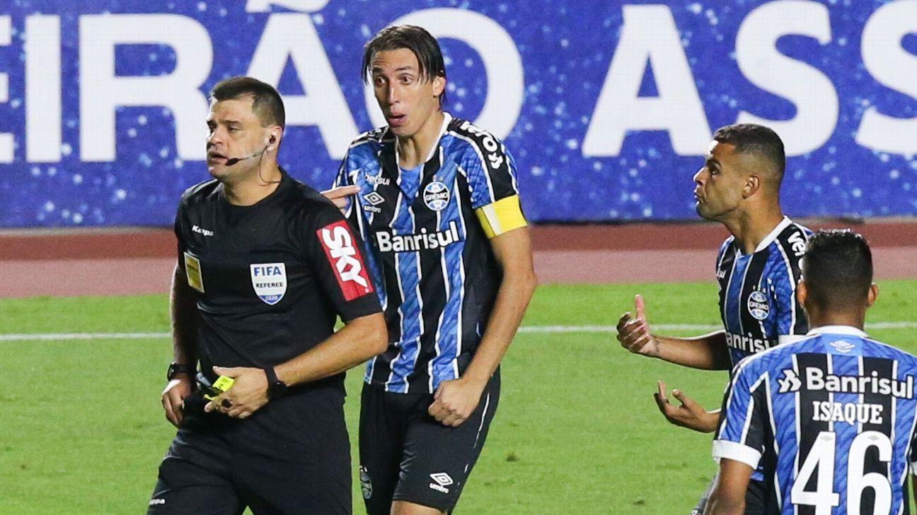 Árbitro Rafael Traci durante São Paulo x Grêmio pelo Campeonato Brasileiro