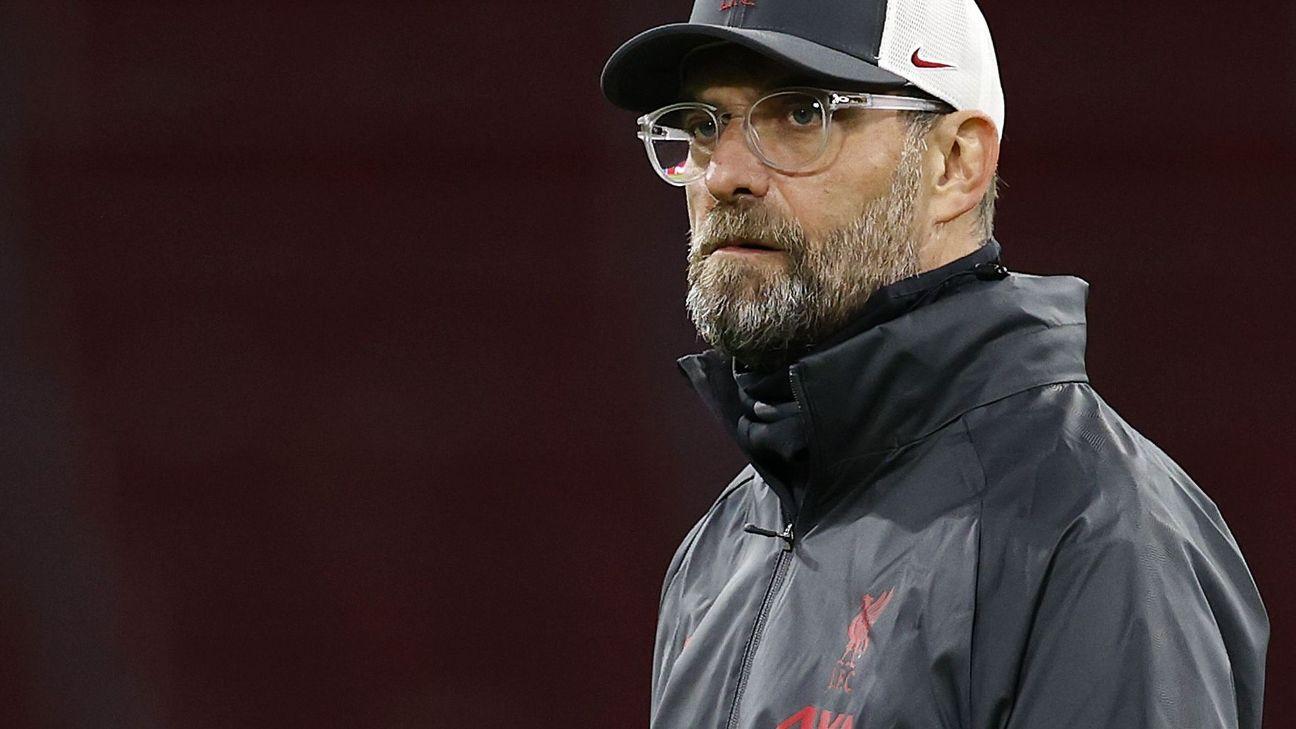 Jurgen Klopp antes de partida do Liverpool na Champions League
