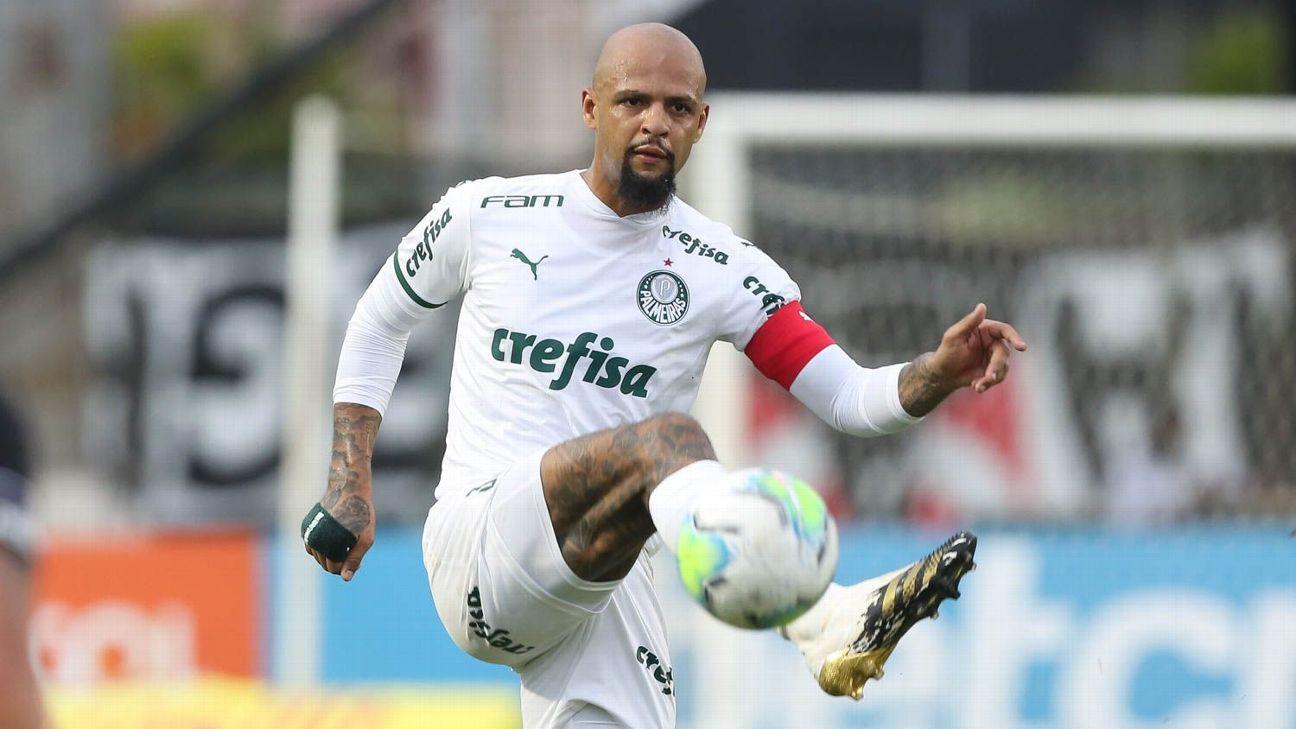 Felipe Melo durante jogo entre Palmeiras e Vasco, pelo Brasileirão