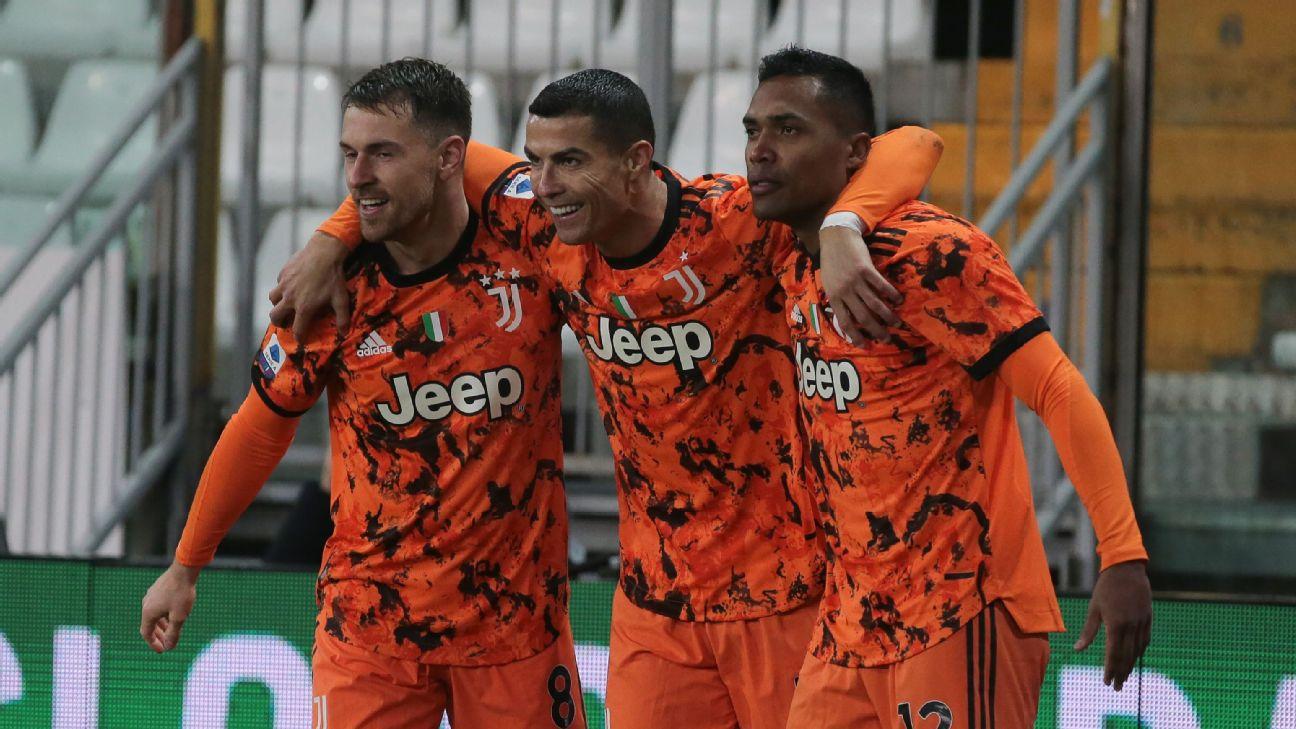 Cristiano Ronaldo comemora gol sobre o Parma no Campeonato Italiano