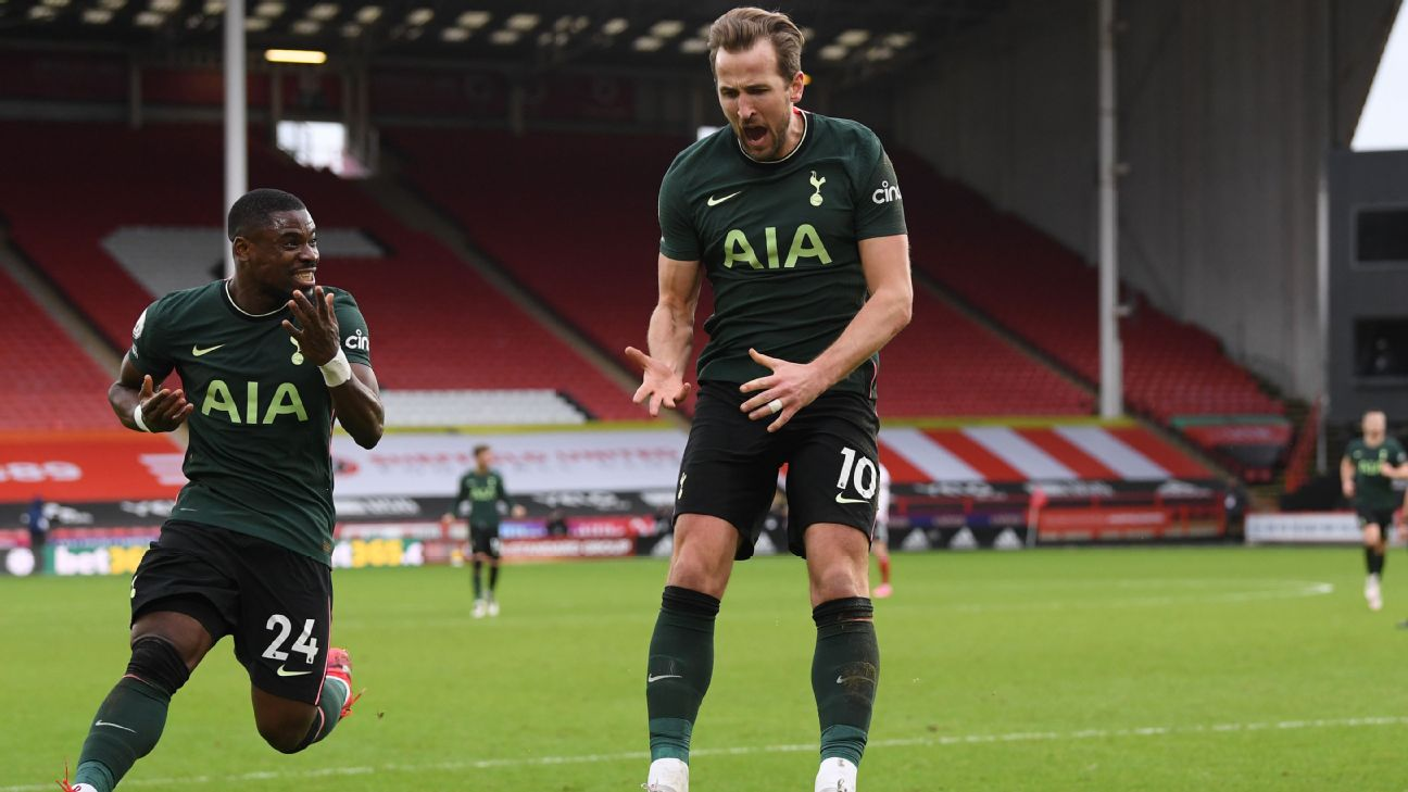 Harry Kane comemora gol na Premier League