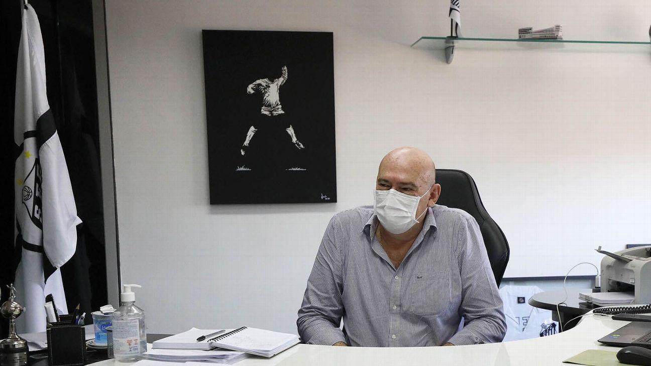 Andrés Rueda, presidente do Santos Futebol Clube