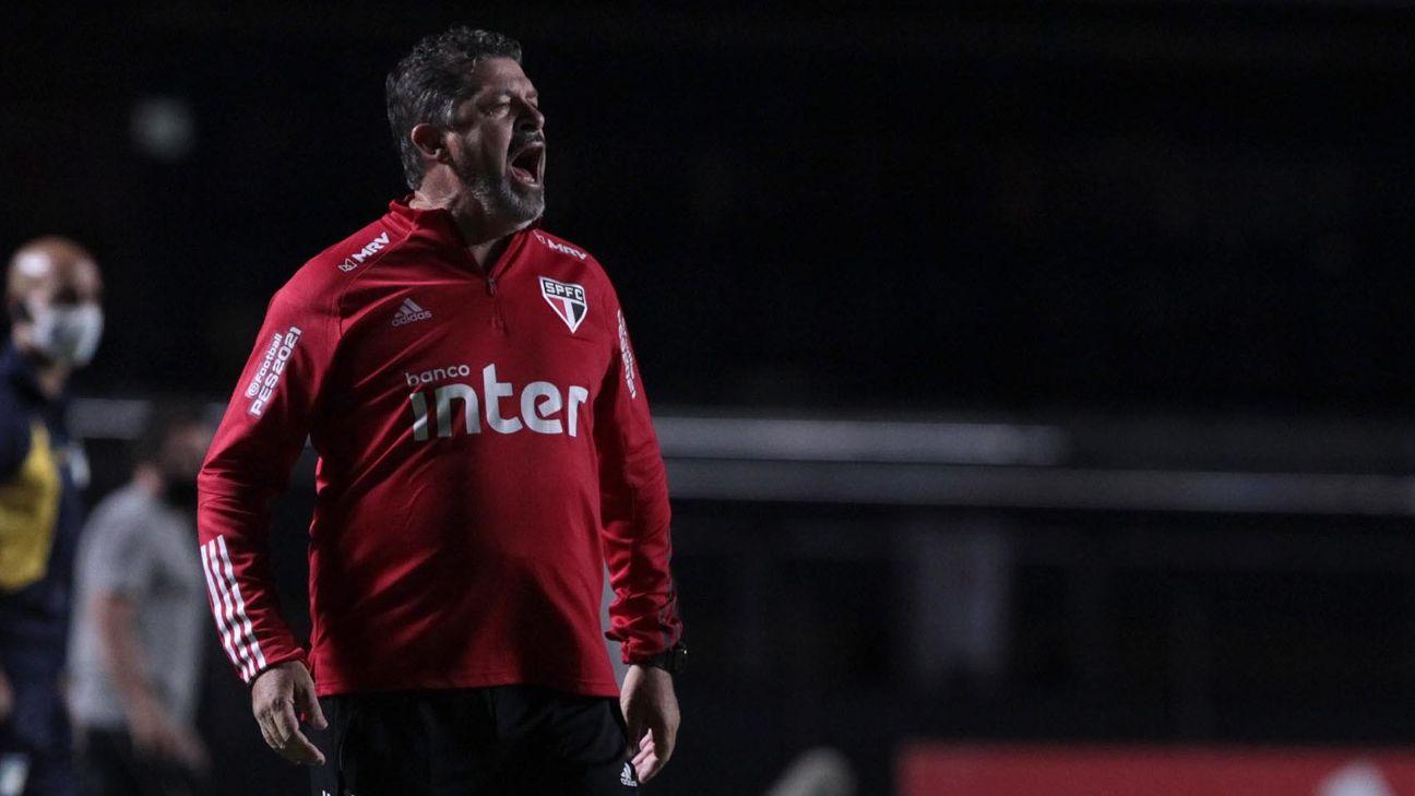 Marcos Vizolli na partida entre São Paulo e Ceará pelo Brasileirão