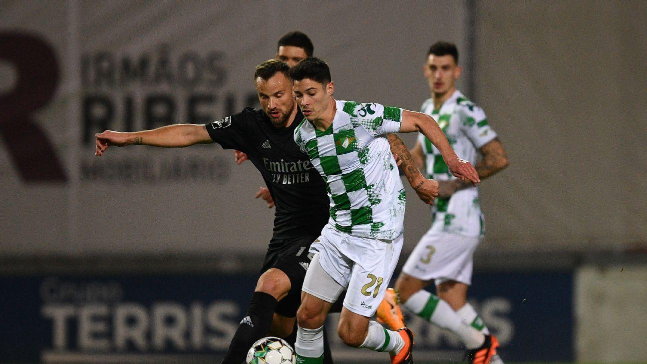 Seferovic marcou o único gol do Benfica no encontro com o Moreirense, pelo Português