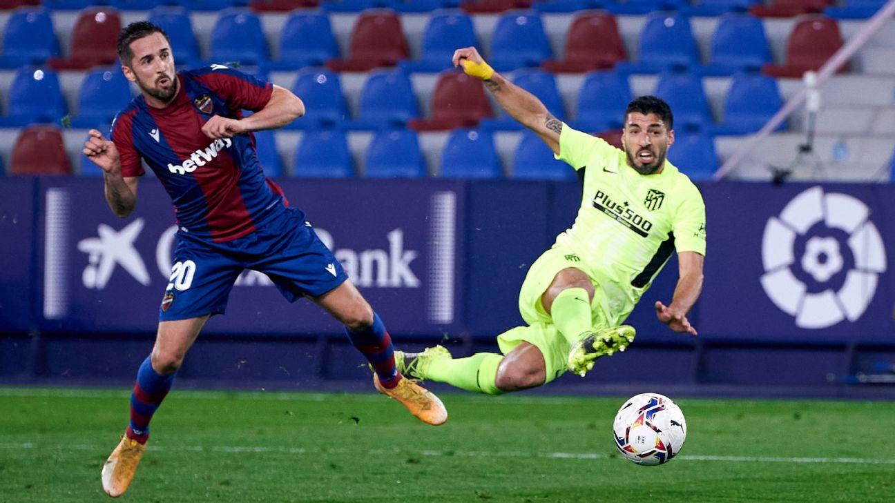 Luis Suárez passou em branco contra o Levante, em LaLiga