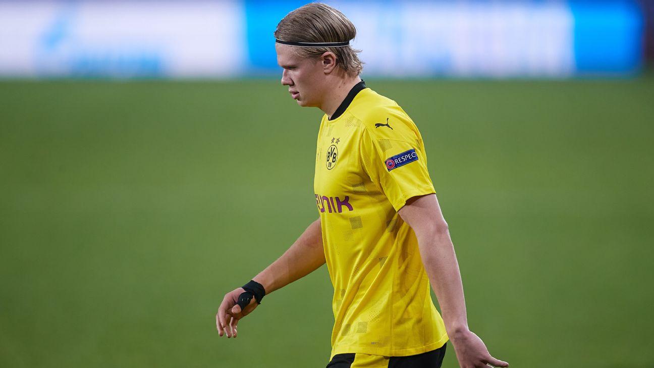 Haaland em ação pelo Borussia Dortmund contra o Sevilla
