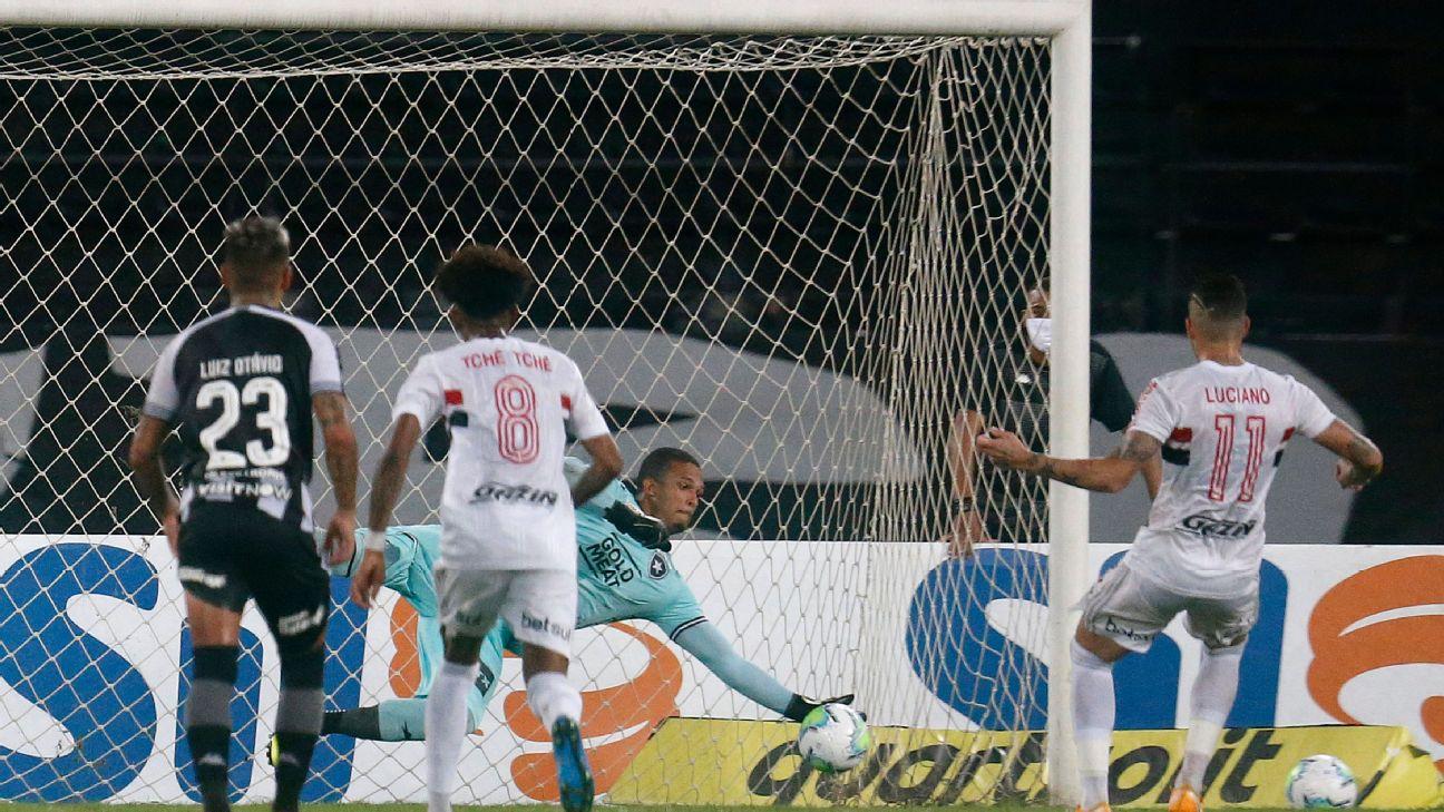 São Paulo perde pênalti diante do Botafogo