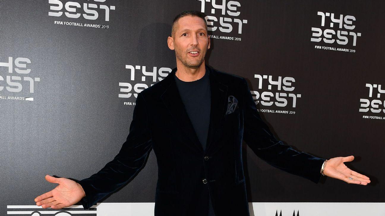 Marco Materazzi durante o prêmio Fifa The Best, em 2019