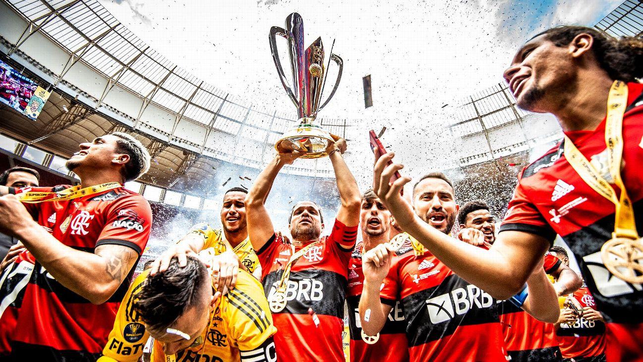 Flamengo comemora título da Supercopa do Brasil