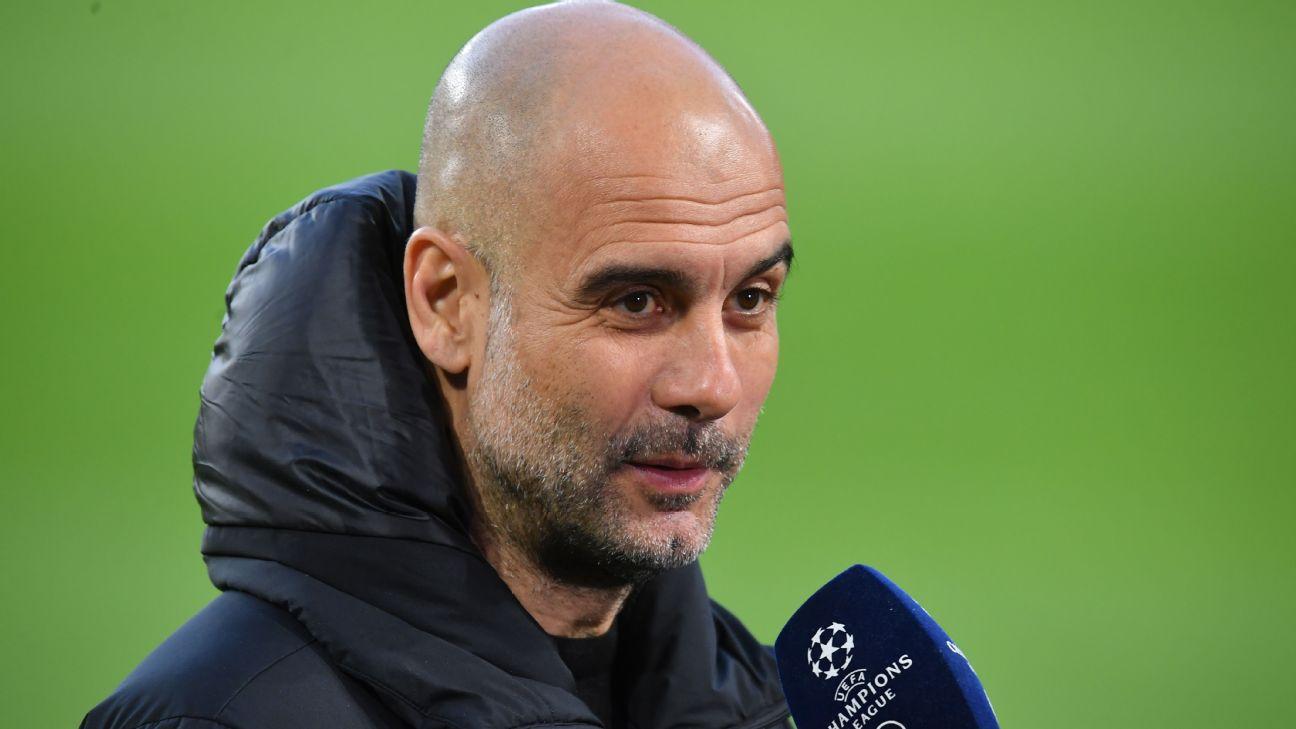 Pep Guardiola em entrevista após classificação do Manchester City