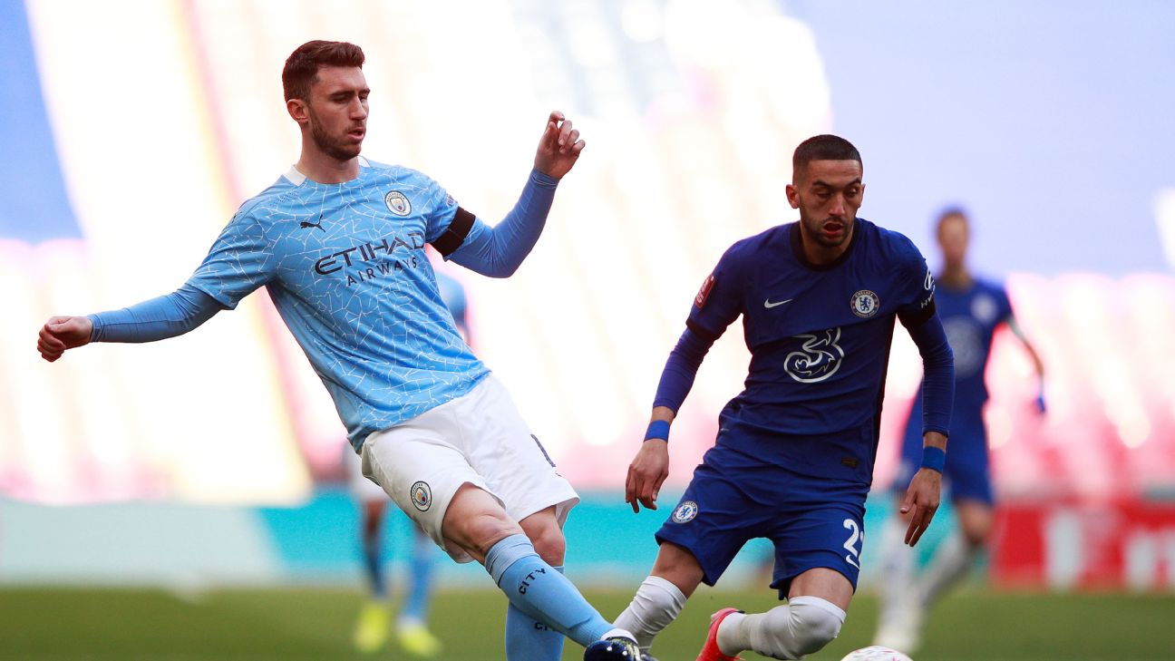 Ziyech marcou o gol da vitória do Chelsea sobre o Manchester City na semifinal da Copa da Inglaterra