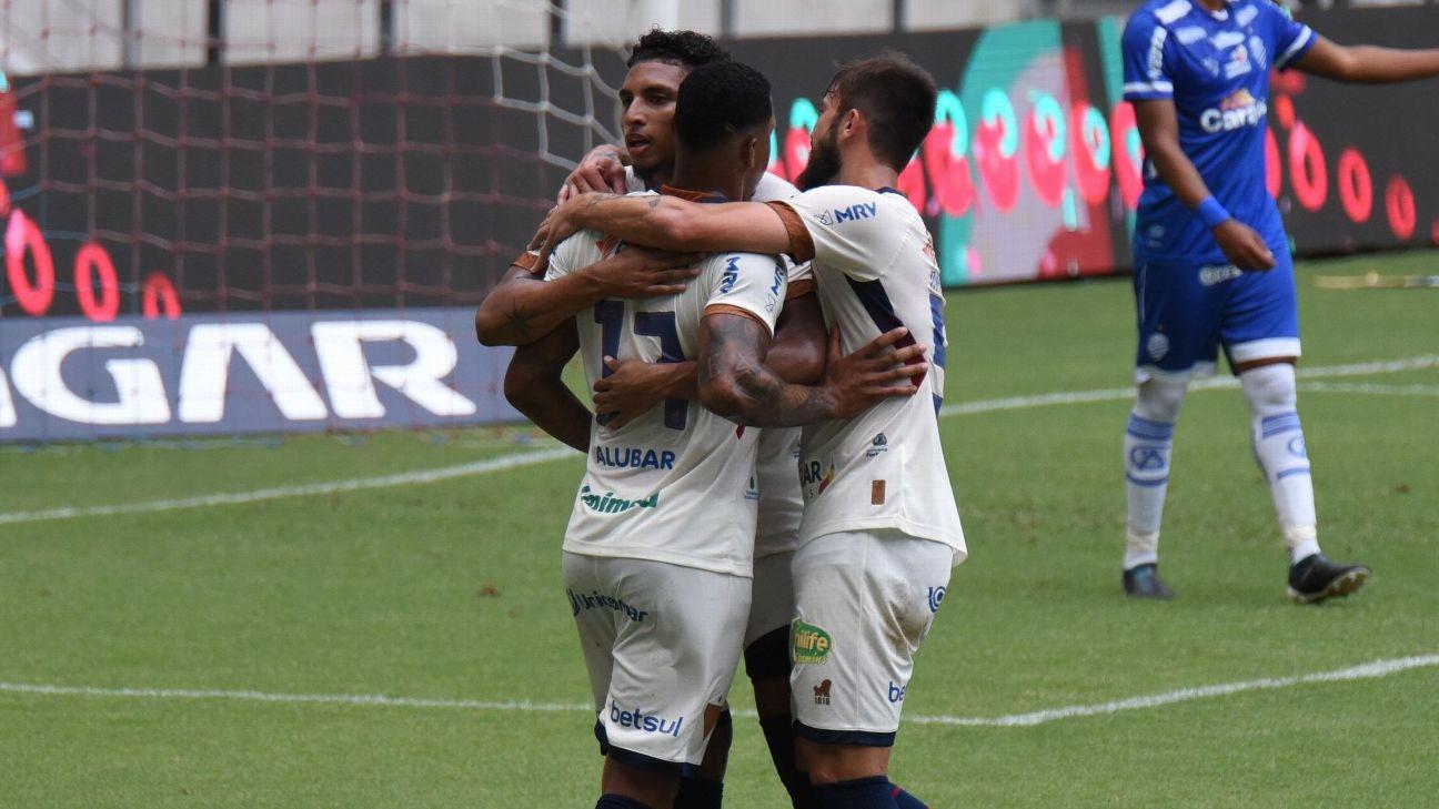 David comemora gol do Fortaleza contra o CSA pelas quartas de finais da Copa do Nordeste