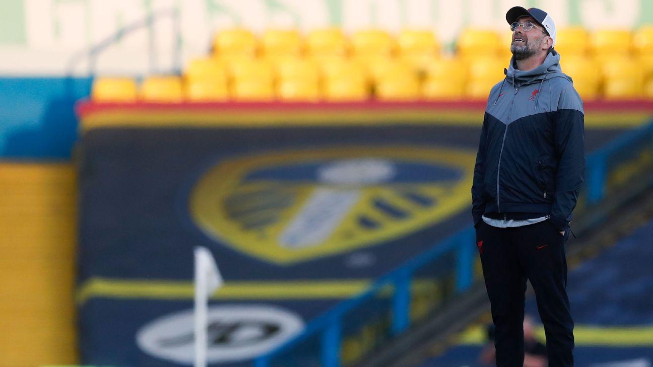 Klopp olha para cima antes de duelo contra o Leeds United