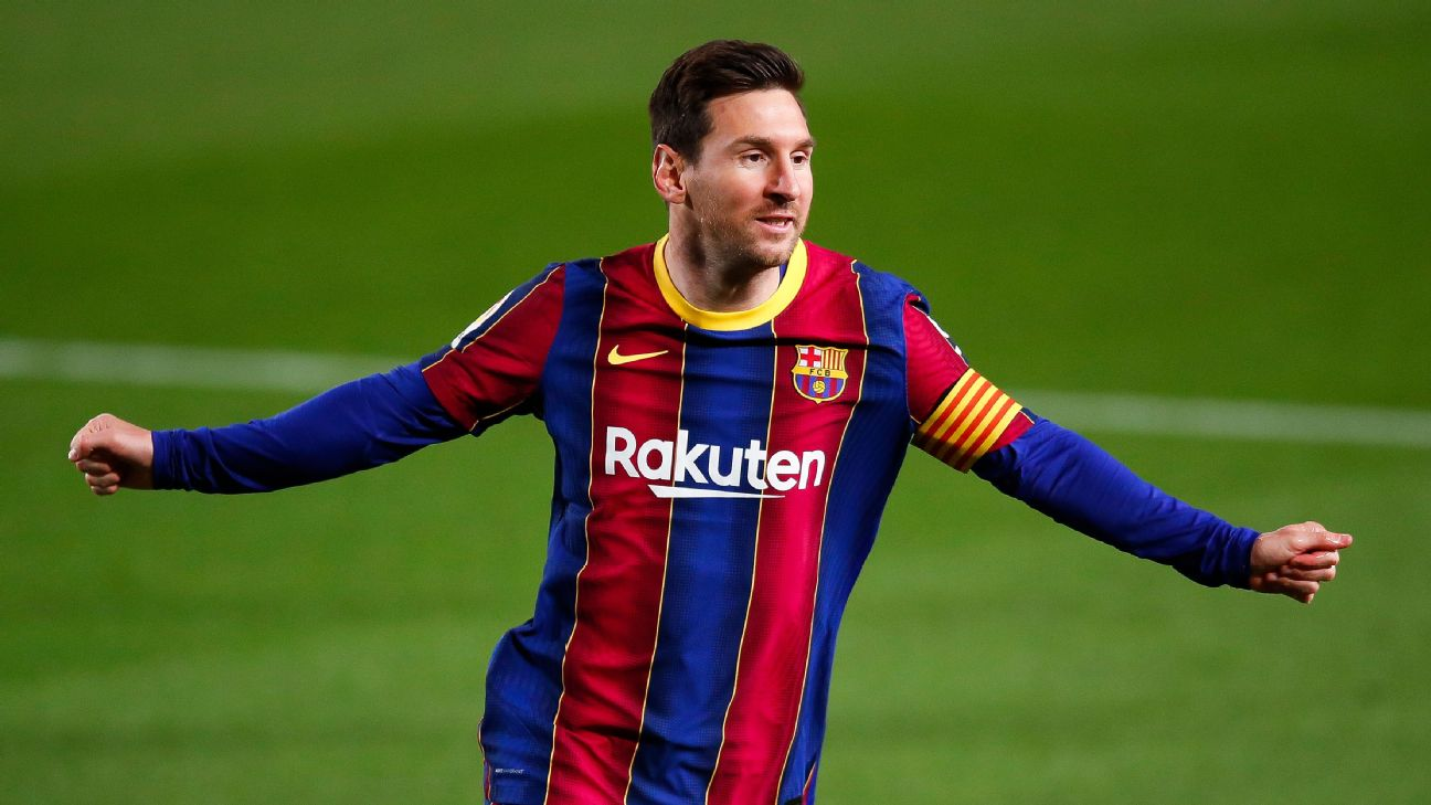 Messi comemora gol sobre o Getafe