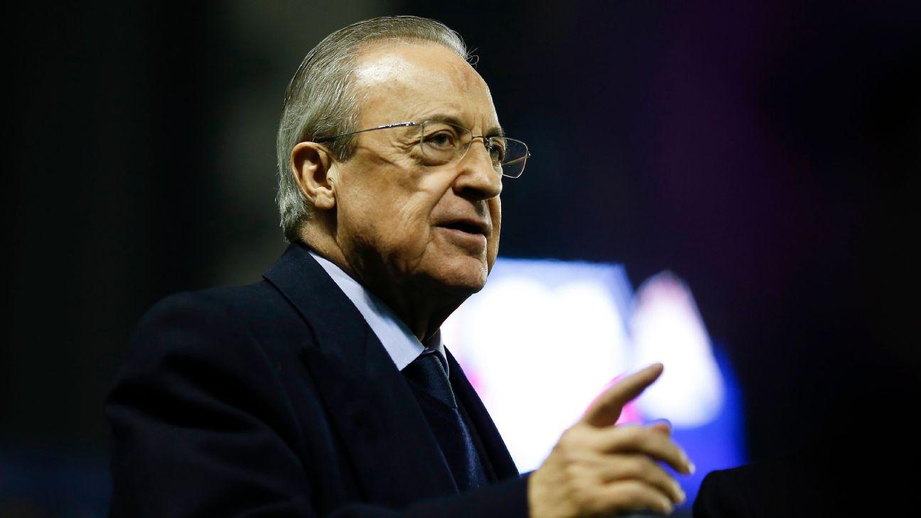 Florentino Pérez, presidente do Real Madrid, durante jogo em LaLiga