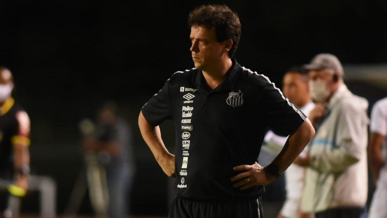 Fernando Diniz em derrota do Santos