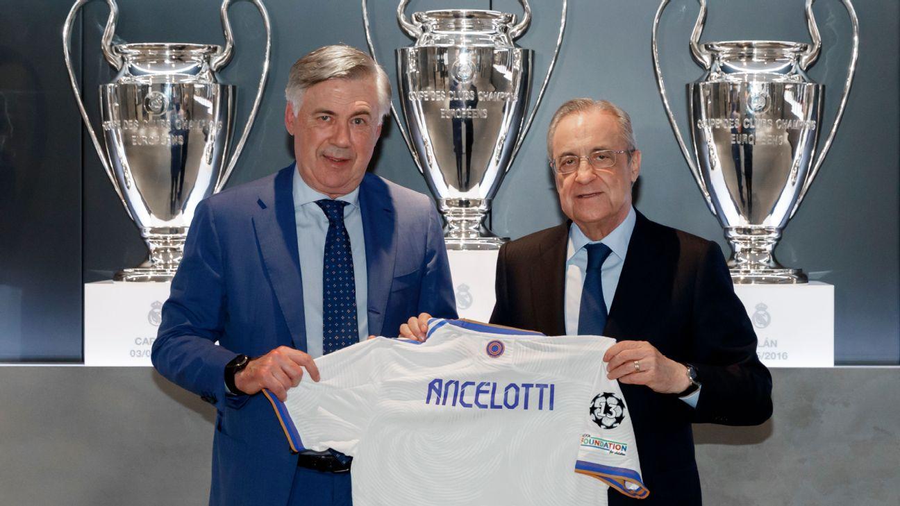Carlo Ancelotti assume o comando do Real Madrid