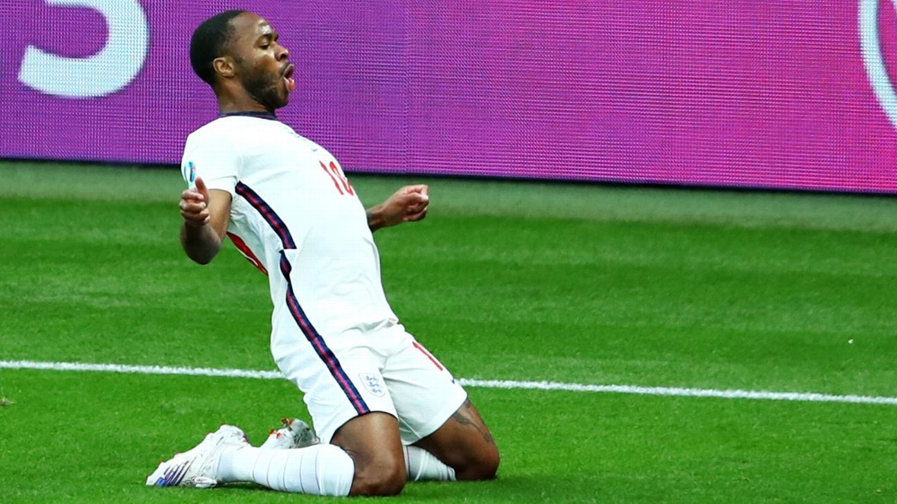 Sterling comemora novo gol na Eurocopa