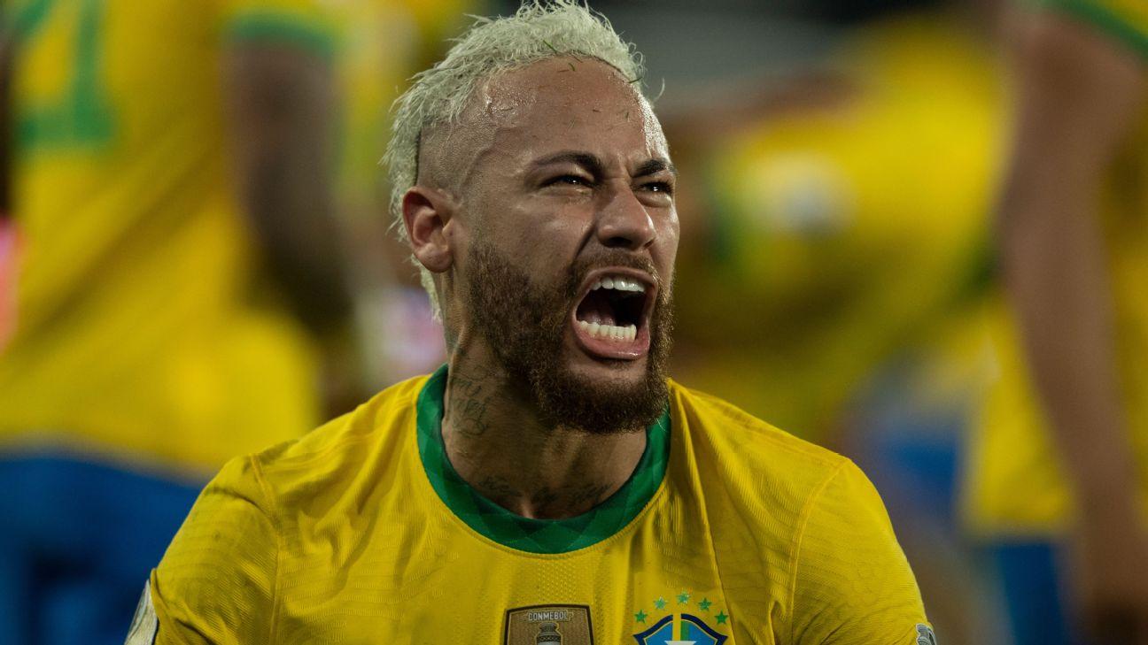 Neymar vibra com vitória da seleção