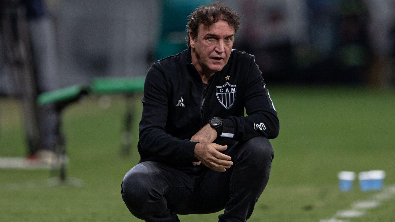Cuca, técnico do Atlético-MG, durante partida pelo Campeonato Brasileiro 2021