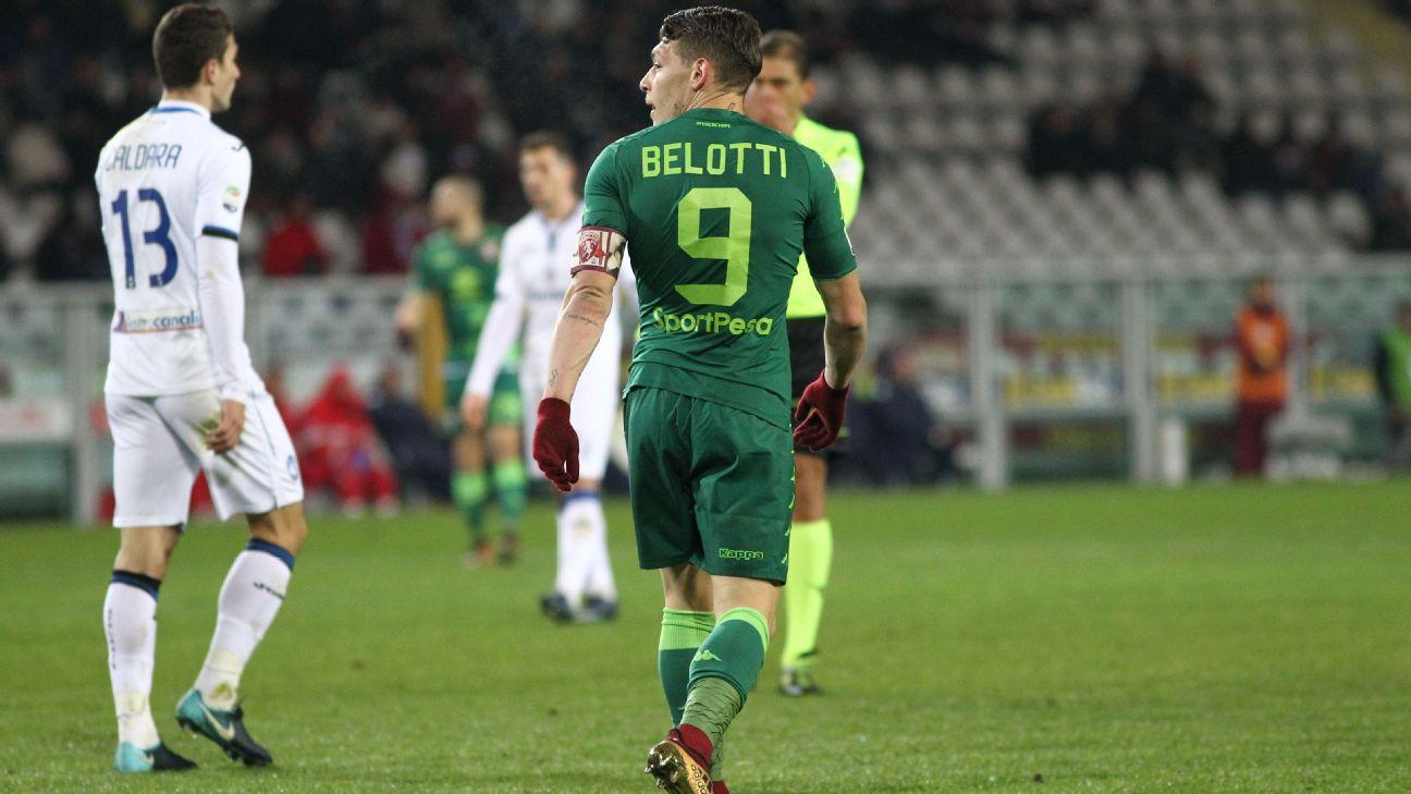 Belotti em ação com a camisa do Torino
