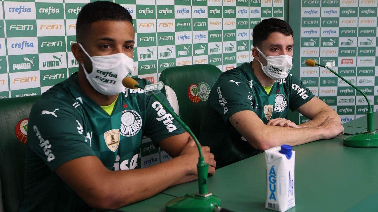 Jorge e Piquerez foram apresentados no Palmeiras