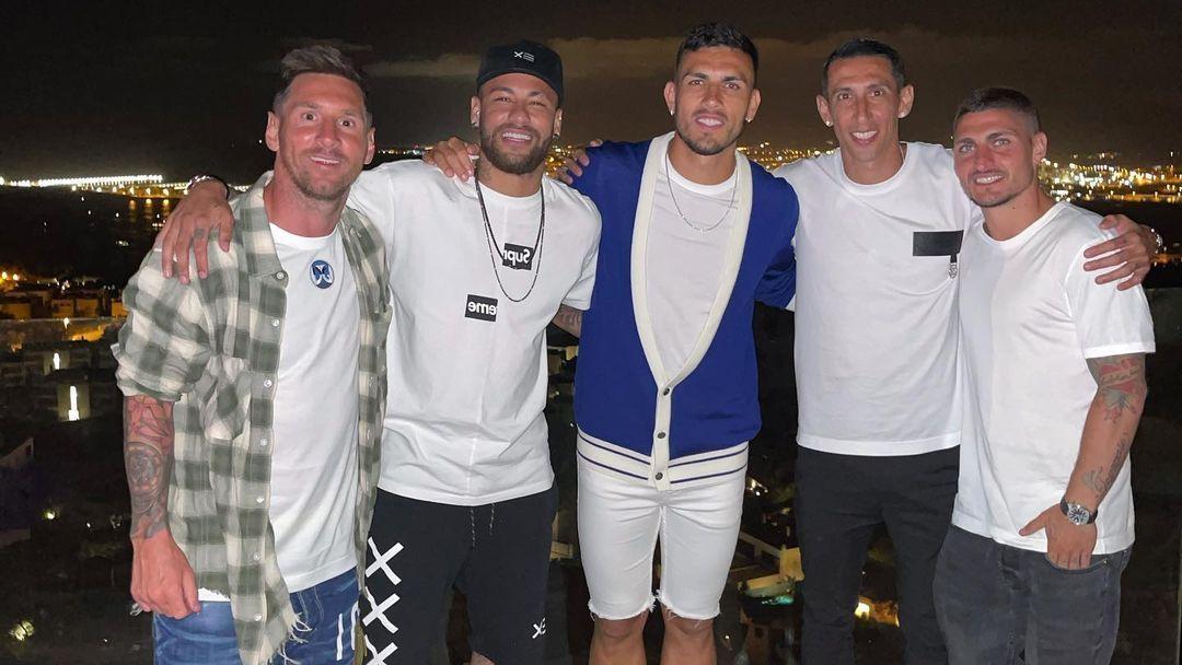 Messi, Neymar, Leandro Paredes, Di Maria e Verratti