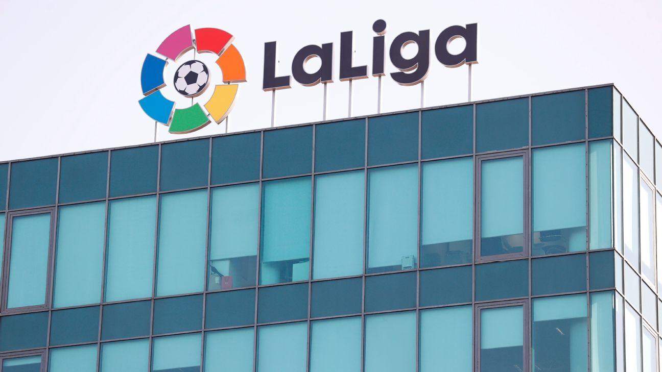 Os escritórios de LaLiga em Madri, capital da Espanha
