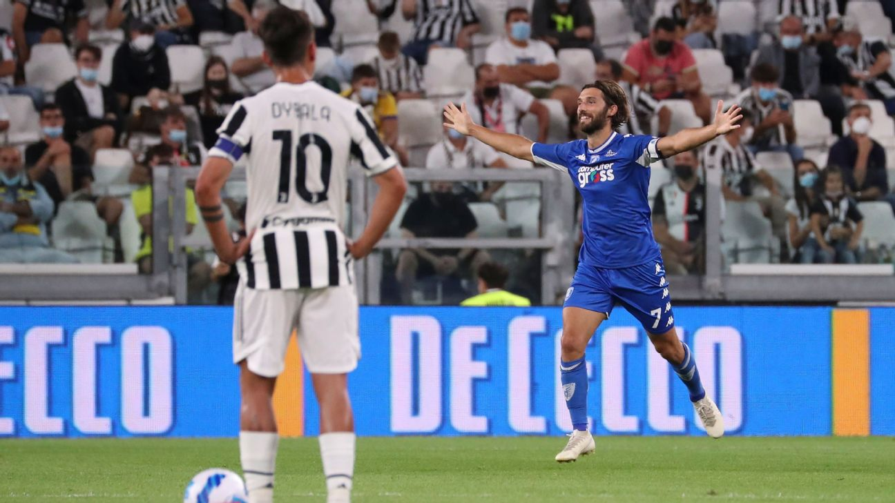 Mancuso celebra gol no Allianz Stadium